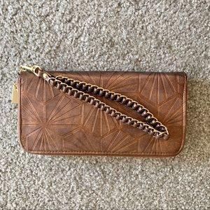 Metallic Wristlet Wallet